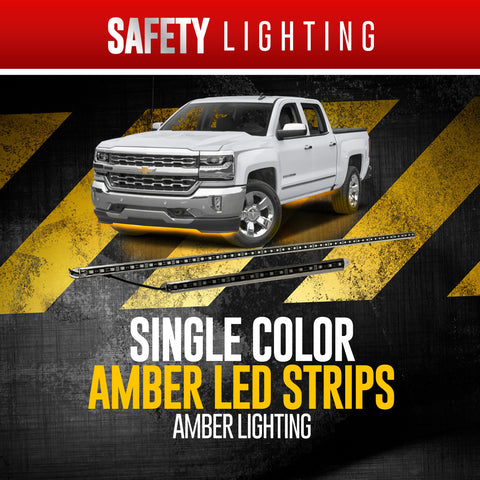 Amber Strip Lighting (3' + 7')