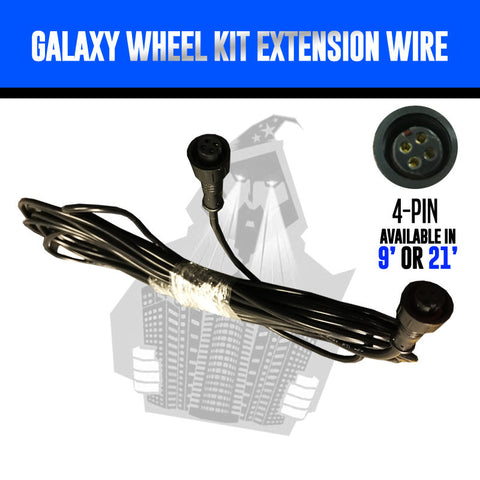 RGB Galaxy Wheel Lighting Extension Wire