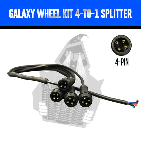 RGB Galaxy Wheel Lighting 4-to-1 Splitter