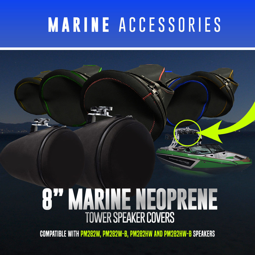 "8"" Marine Neoprene Tower Speaker Covers"