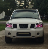 04-14 Nissan Titan Headlight Halo Build
