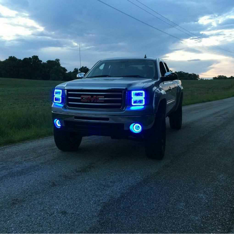 07-13 GMC Sierra Halo Headlight Build