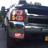 07-13 Chevrolet Silverado Flat Bottom Headlight Halo Build