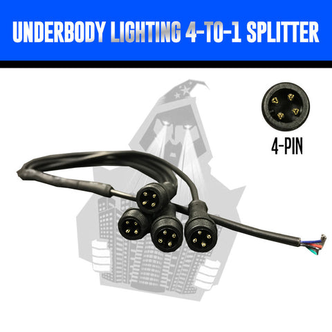 RGB Underbody Lighting 4-to-1 Splitter