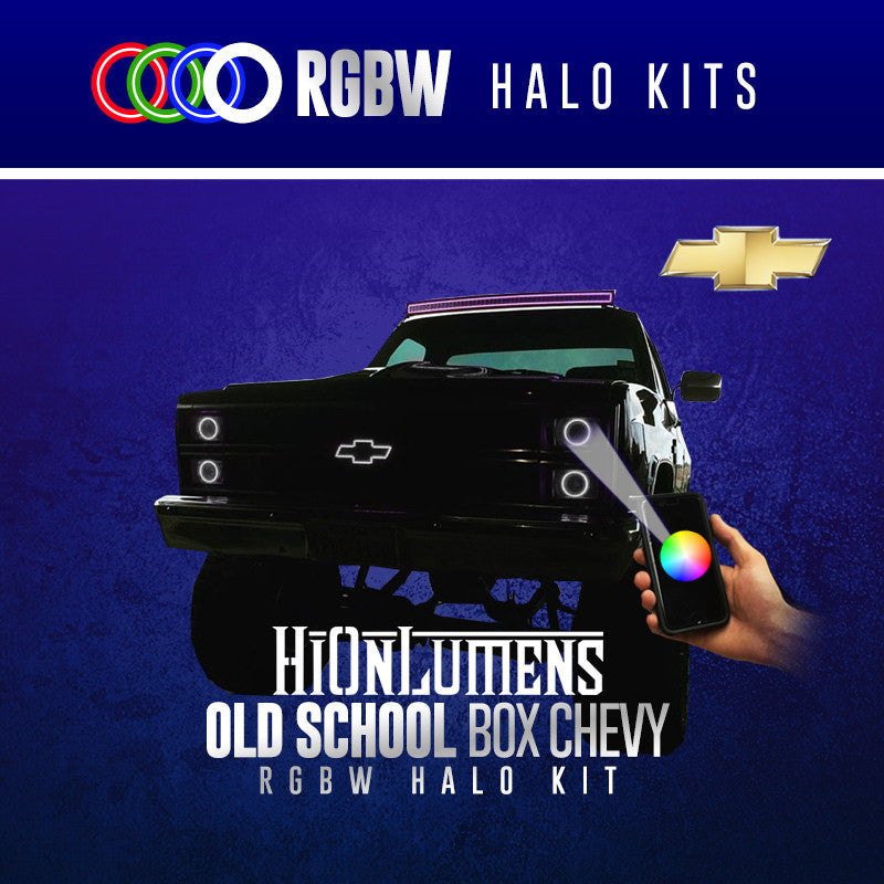 Old School Box Chevy RGBW Halo Kit