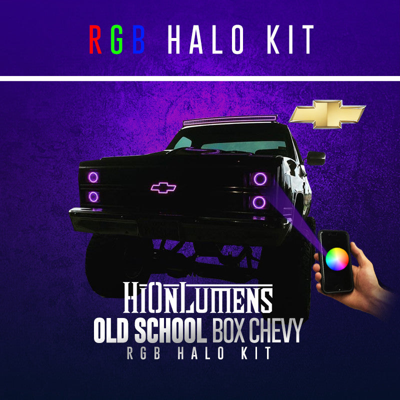 Old School Box Chevy RGB Halo Kit