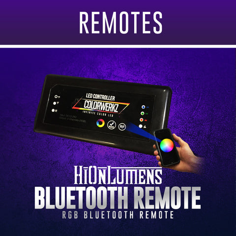 RGB Stealth Edition Bluetooth Remote (Pairable With M7)
