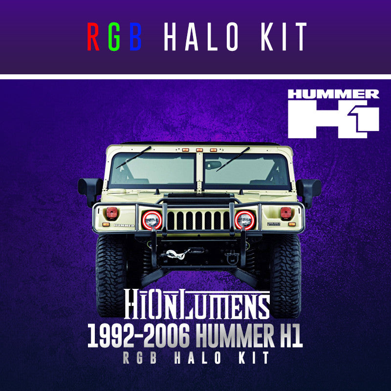 1992-2006 Hummer H1 RGB Halo Kit