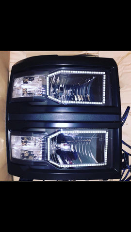 14-15 Chevrolet Silverado Non-Projector Halo Headlight Build