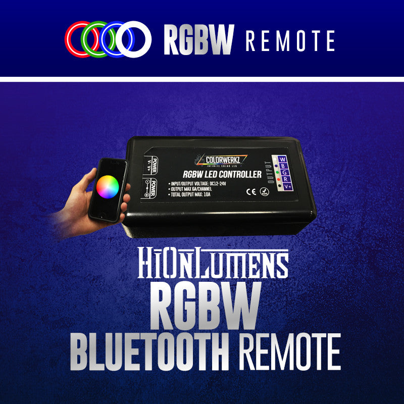 RGBW Bluetooth Remote