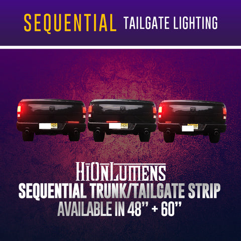 Sequential Trunk/Tailgate Strip
