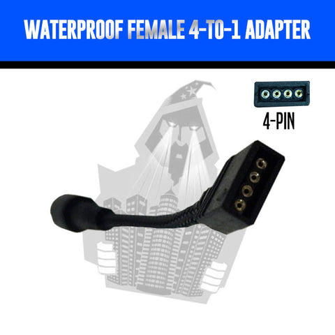Waterproof Female > 4-to-1 Adapter