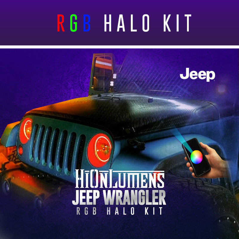 Jeep Wrangler RGB Halo Kit