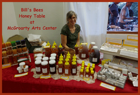 Bill's Bees Honey Table at McGroarty Arts Center
