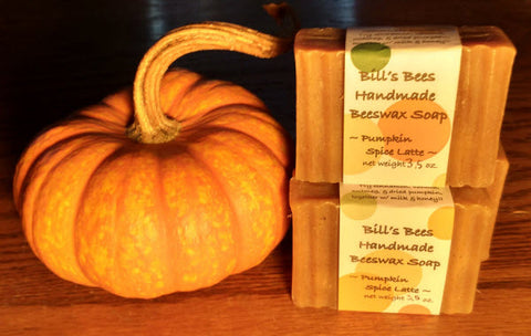 Bills Bees Pumpkin Spice Latte Homemade Beeswax Soap