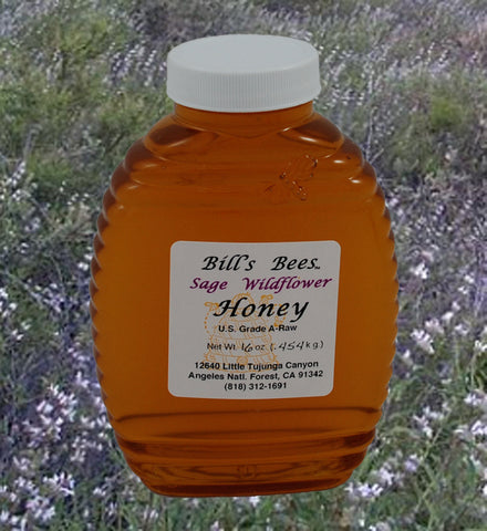 Bill's Bees 100% Raw Sage Wildflower Honey