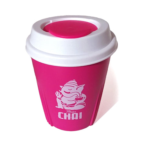 Re-usable chai cup, NZ Made, recyclable, BPA free. Perfect for chai, tea, coffee.