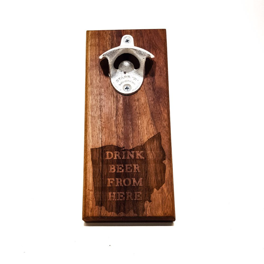 Wall Mount Bottle Opener - Drink Beer From Here - Bottle Opener -  - District 31 - 1