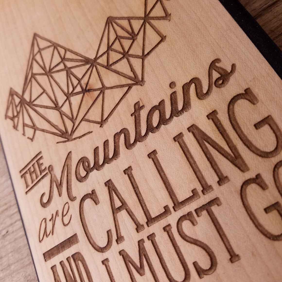 Mountains are Calling - Wooden Journal