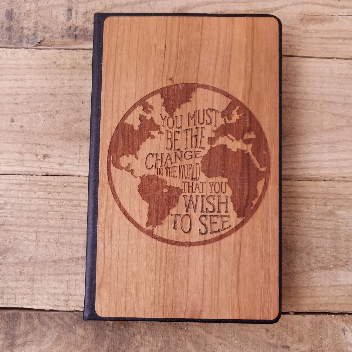 Must be the Change - Wooden Journal