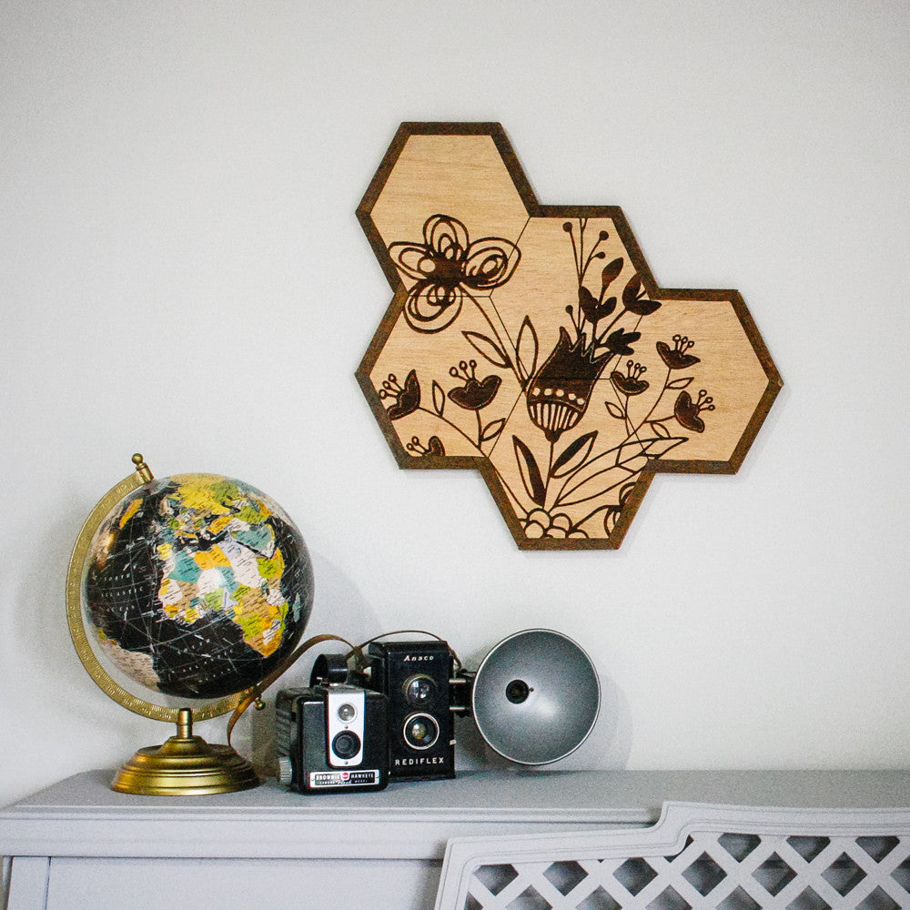 Honeycomb Flower Wall Hanging