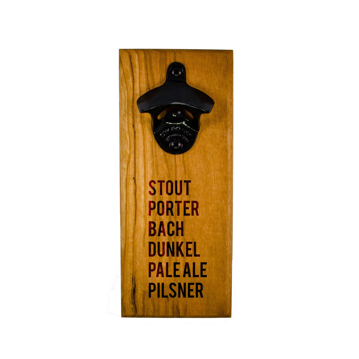 Wall Mount Bottle Opener - Beer Types - Bottle Opener -  - District 31 - 1