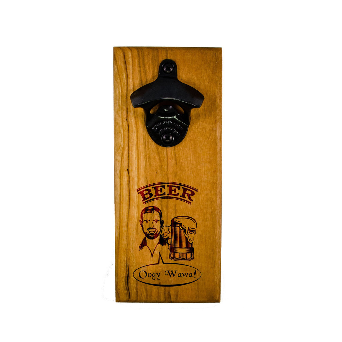 Wall Mount Bottle Opener - Beer Man - Bottle Opener - Cherry / Proost / Black Opener - District 31 - 1