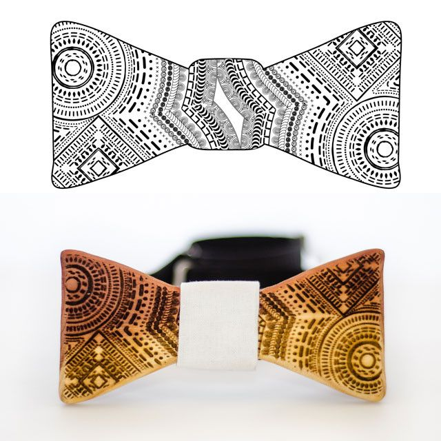 Customizable - Customize The Slimline Wooden Bow Tie -  - District 31 - 1
