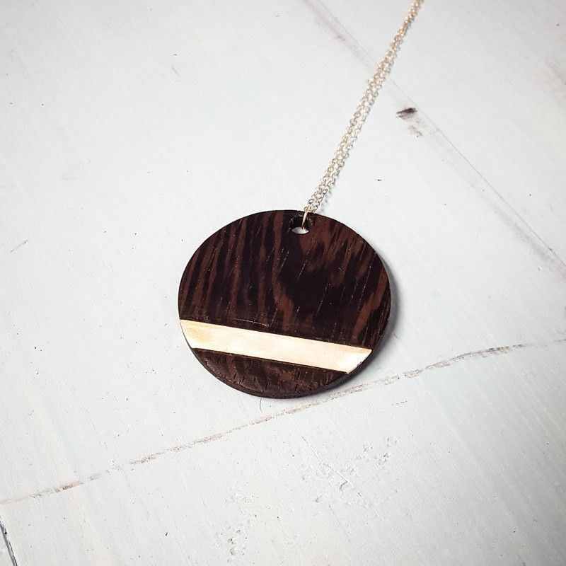 Necklace - Millettia Circle Pendant -  - District 31 - 1