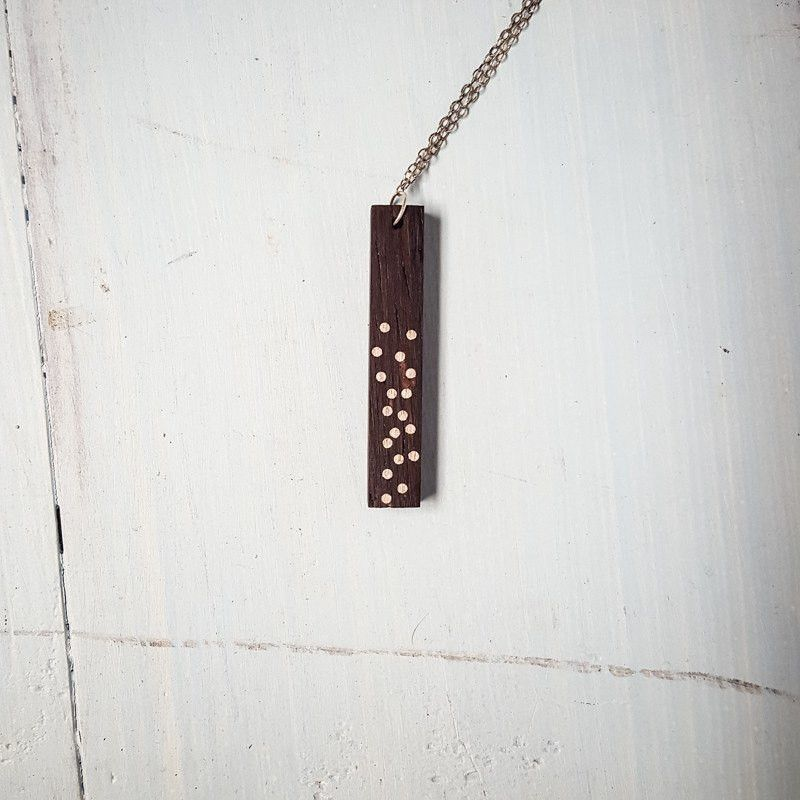 Necklace - Millettia Drop Pendant -  - District 31 - 1