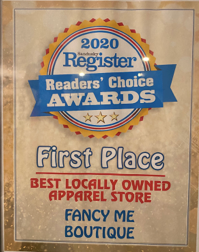 Nominated As Best Locally Owned Apparel Store in Erie County, OH in 2020