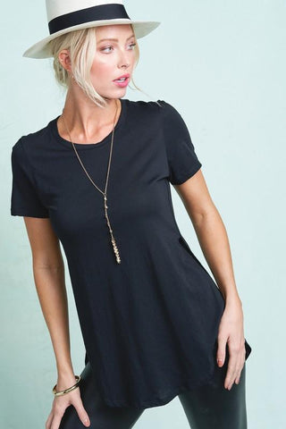 Hight Slit Side Tee