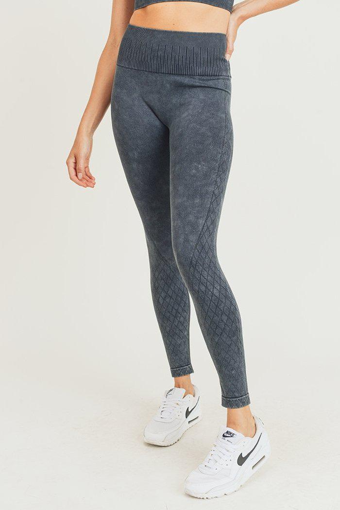 Lattice Seamless Mineral Washed Leggings