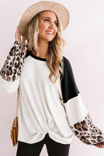 Load image into Gallery viewer, Leopard and Waffle Knit Top