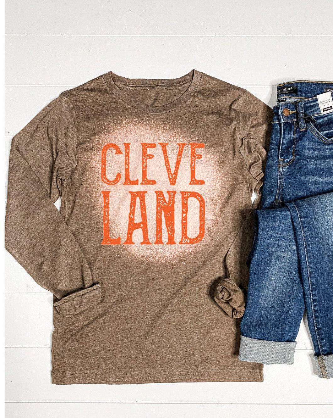 Long Sleeve Bleached Cleveland