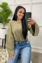 Load image into Gallery viewer, Olive Flare Sleeve Oversized Top
