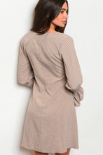 Load image into Gallery viewer, Taupe With Dots Dress