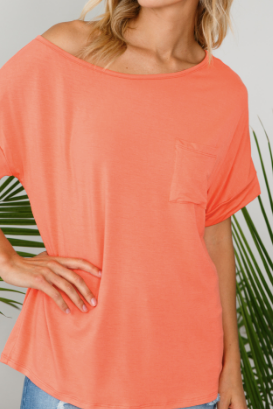 Off the Shoulder pocket top