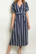 Load image into Gallery viewer, Navy White Striped Dress