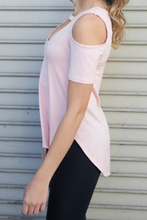 Load image into Gallery viewer, Open Shoulder Pink Top