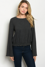Load image into Gallery viewer, Smocked Waist Knit Top