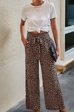 Load image into Gallery viewer, Wide Leg Leopard Pant