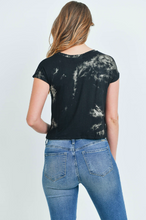 Load image into Gallery viewer, Black Tie Dye Top