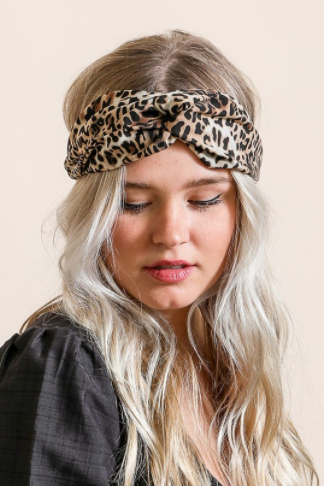 Leopard Twist Headwrap