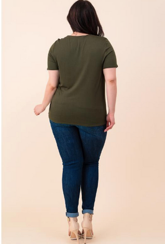Plus Size Double Strap Tee