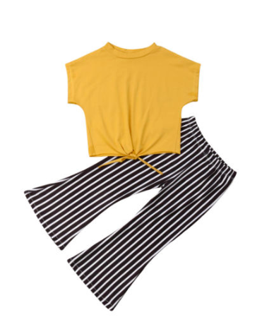 Mustard and Stripes Girls Outfit