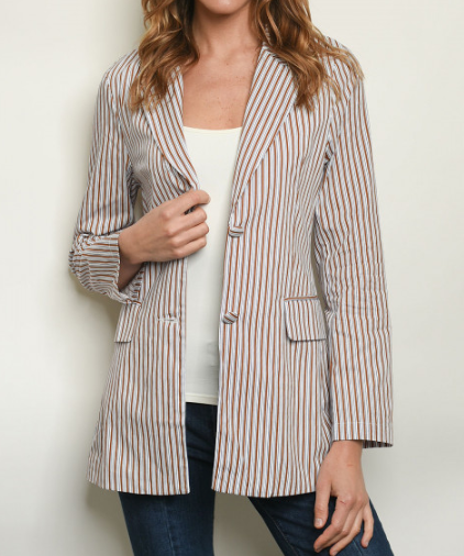 Button Down Pocket Blazer