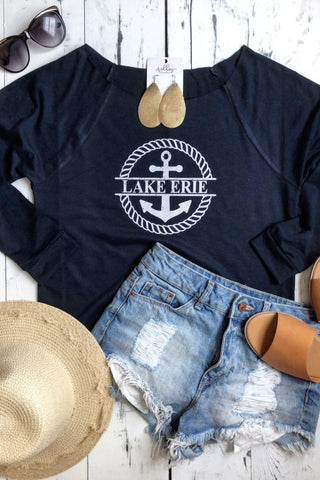 Off the Shoulder Lake Erie Sweatshirt