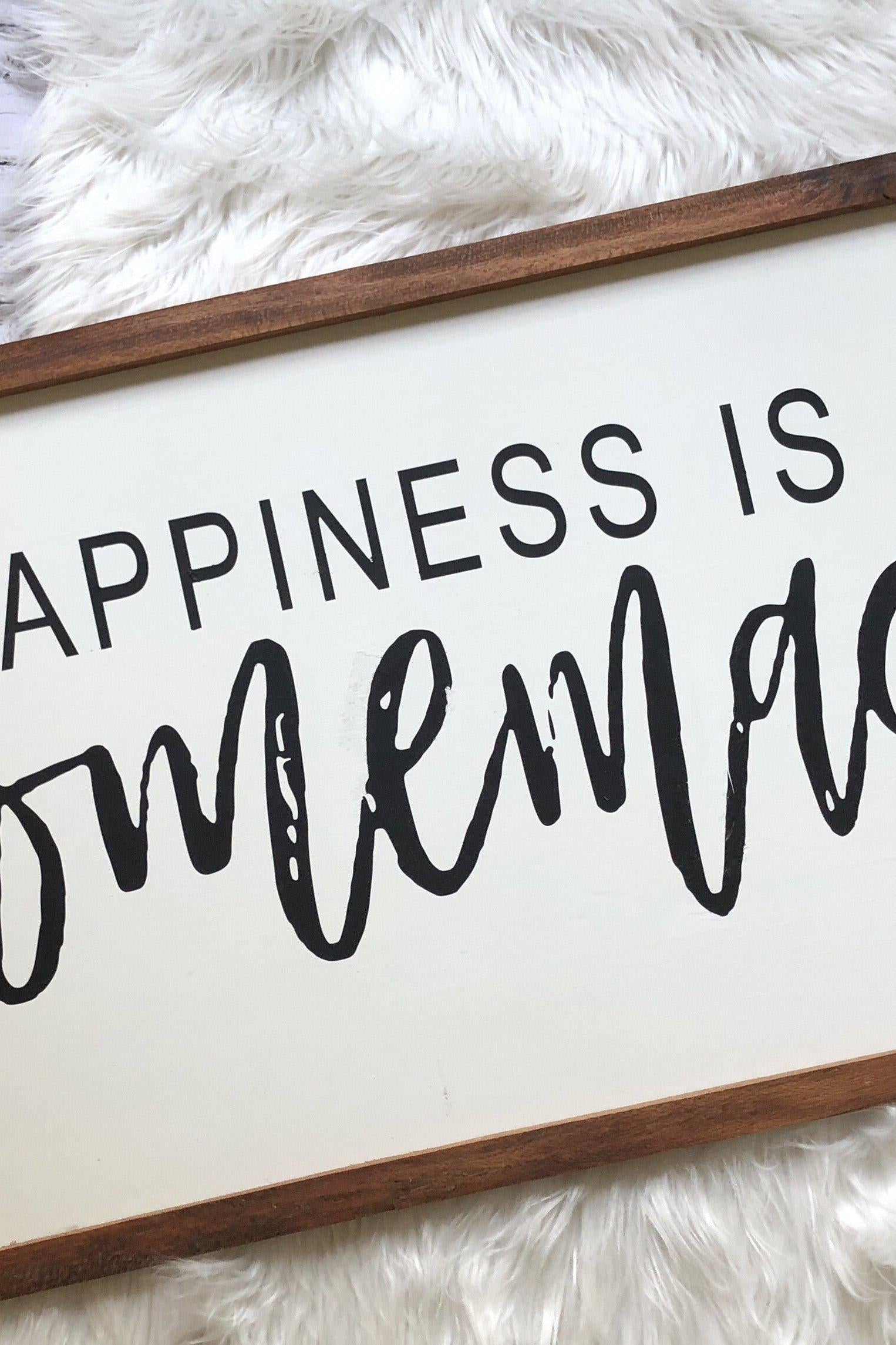 graphic about Happiness is Homemade called Pleasure is Home made
