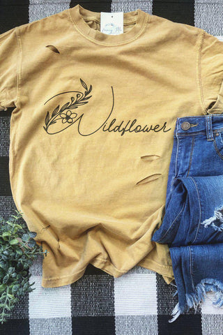 Wildflower Distressed Tee